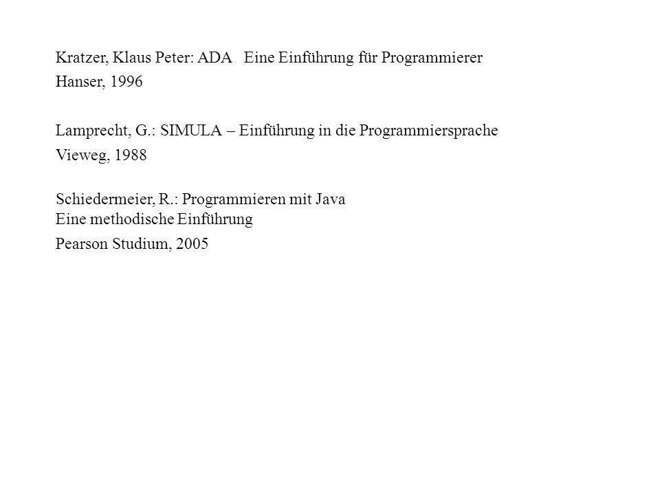 Kratzer, Klaus Peter: ADA Eine Einführung für Programmierer