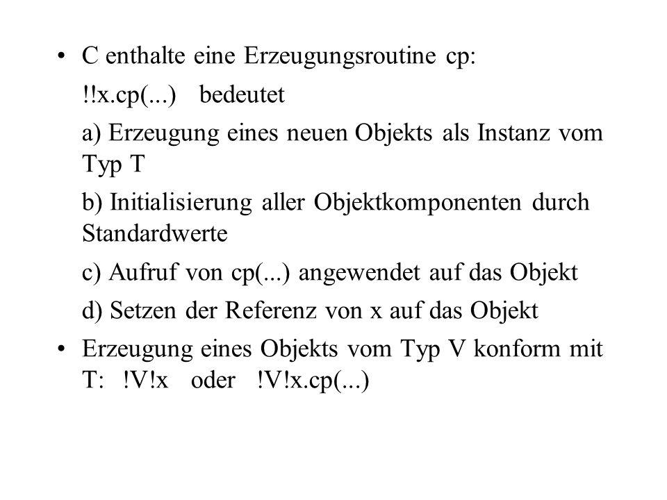 C enthalte eine Erzeugungsroutine cp: