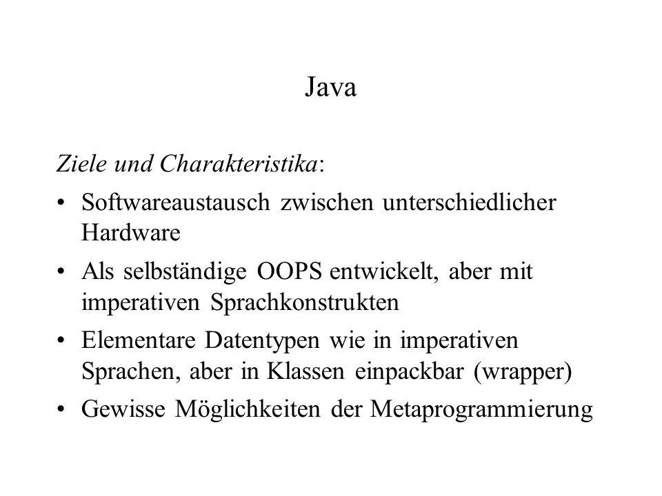 Java Ziele und Charakteristika: