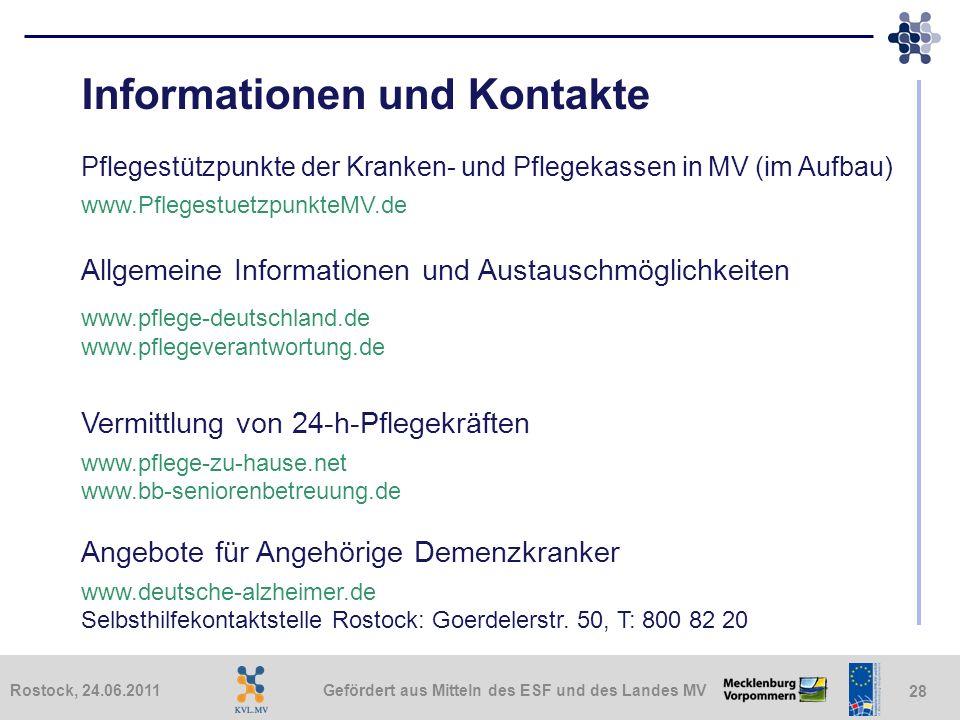 Informationen und Kontakte