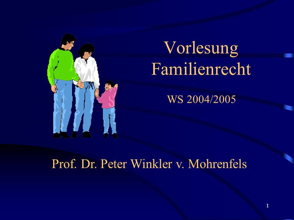 Vorlesung Familienrecht