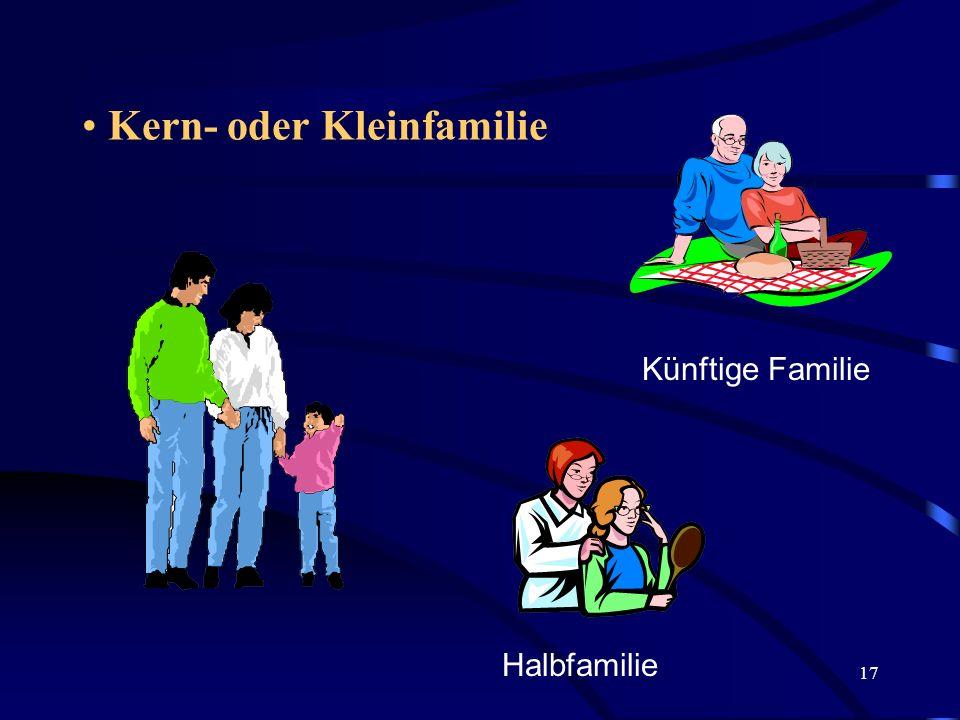 Kern- oder Kleinfamilie
