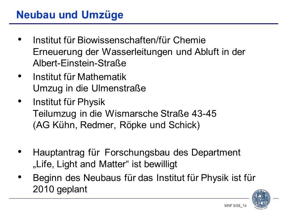 Neubau und Umzüge Institut für Biowissenschaften/für Chemie Erneuerung der Wasserleitungen und Abluft in der Albert-Einstein-Straße.