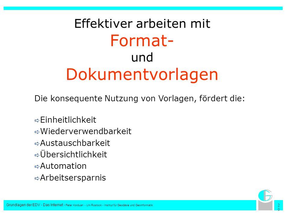 Effektiver arbeiten mit Format- und Dokumentvorlagen