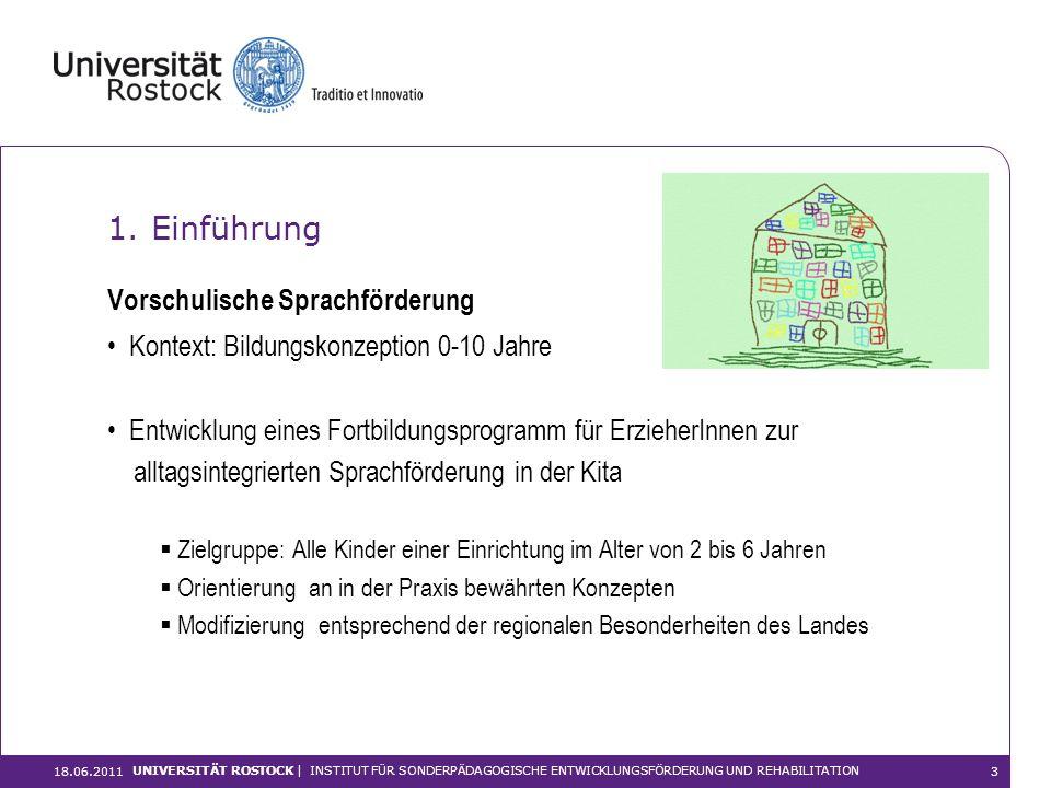 1. Einführung Vorschulische Sprachförderung