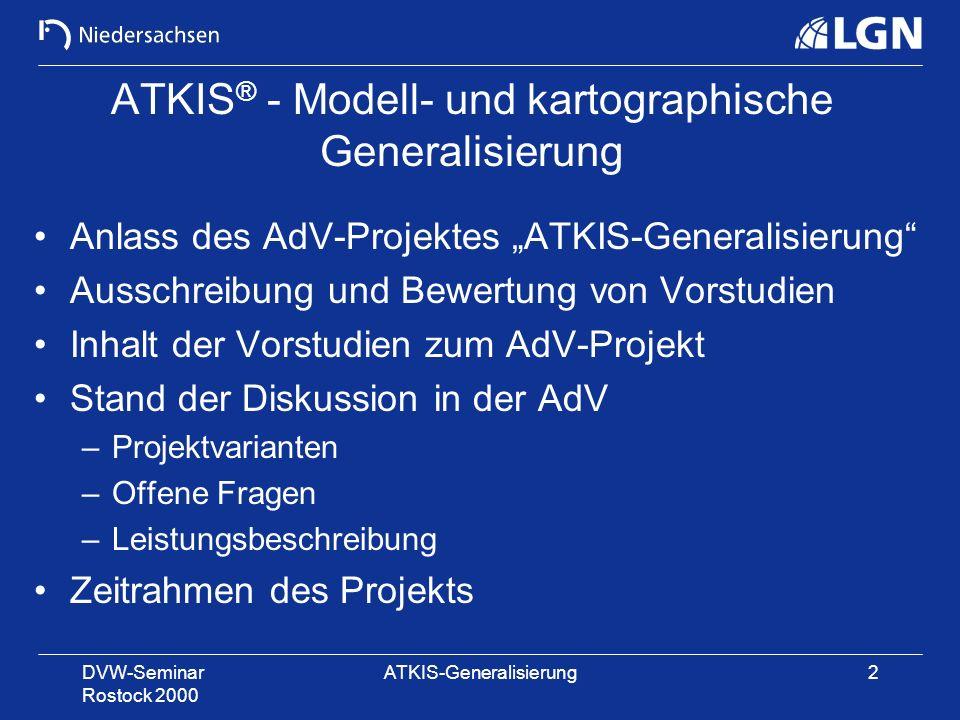 ATKIS® - Modell- und kartographische Generalisierung