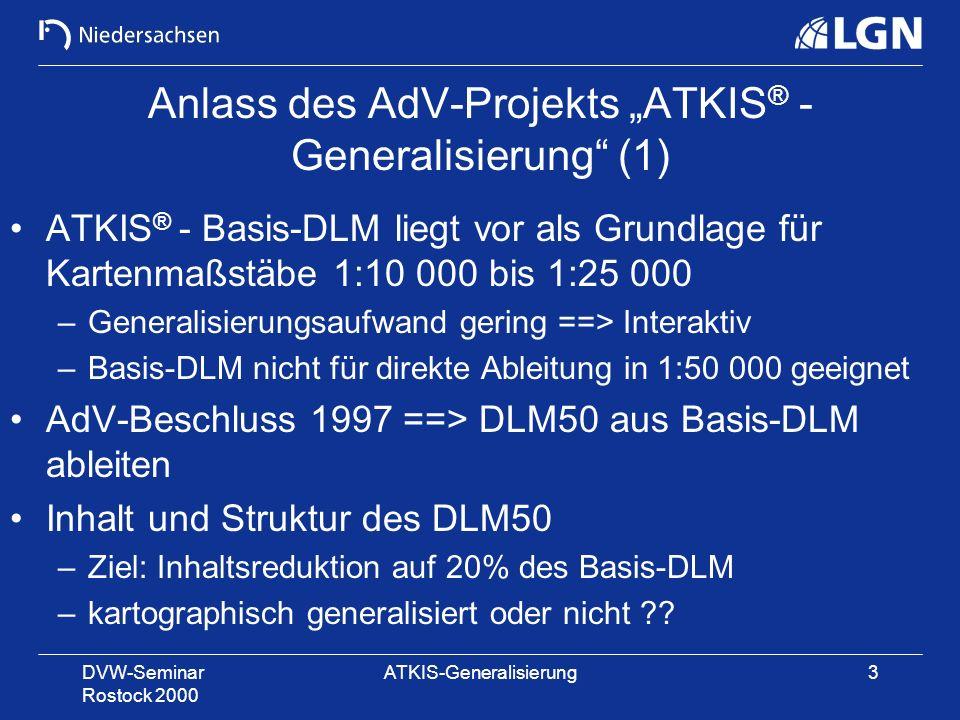 """Anlass des AdV-Projekts """"ATKIS® -Generalisierung (1)"""