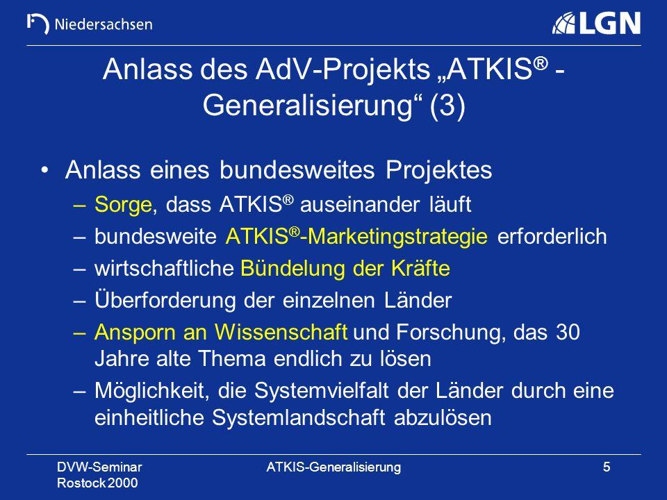 """Anlass des AdV-Projekts """"ATKIS® -Generalisierung (3)"""