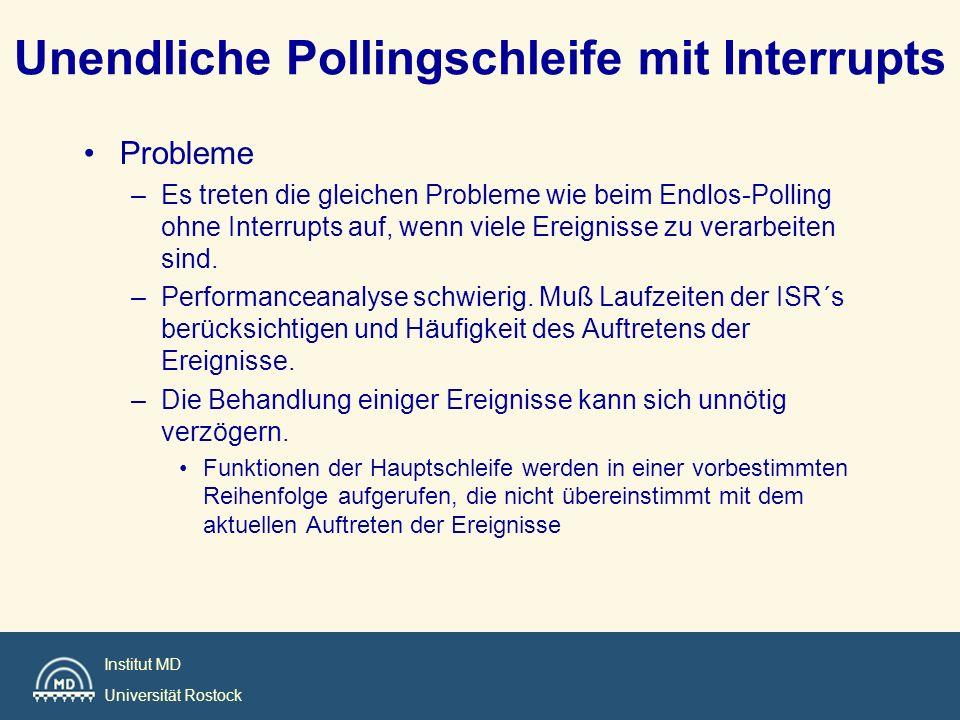 Unendliche Pollingschleife mit Interrupts