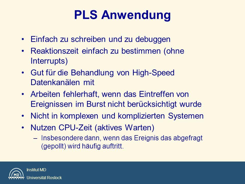 PLS Anwendung Einfach zu schreiben und zu debuggen