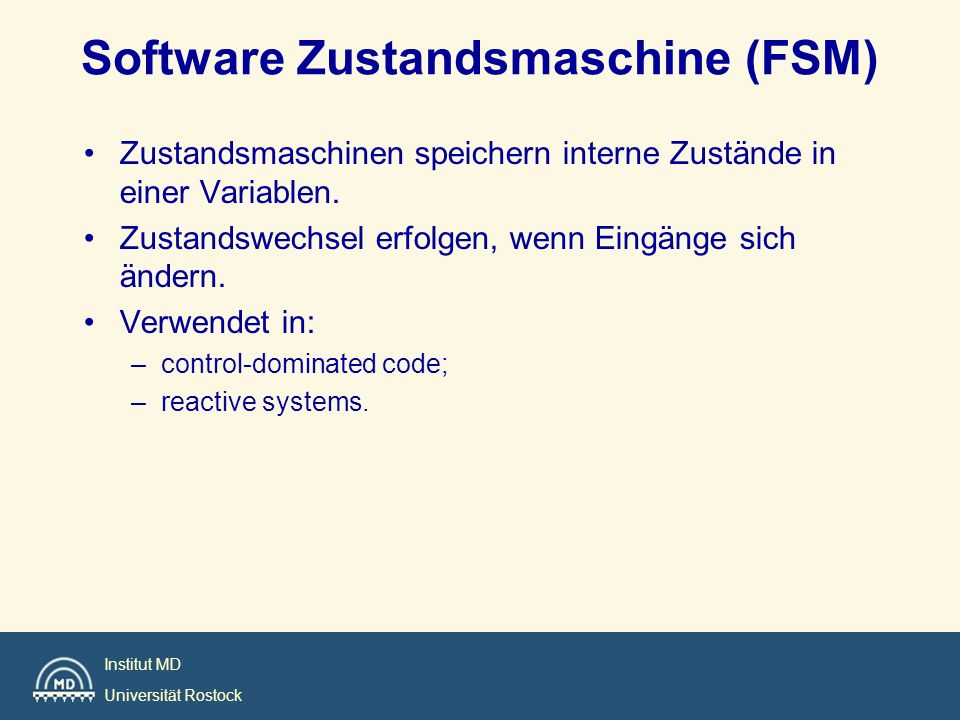 Software Zustandsmaschine (FSM)