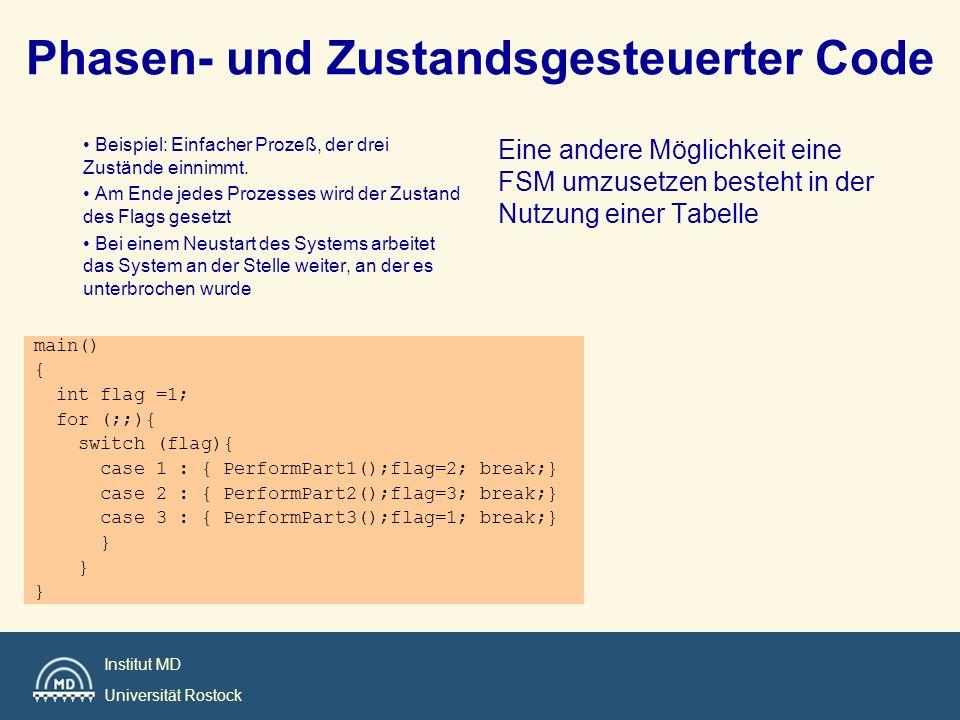 Phasen- und Zustandsgesteuerter Code