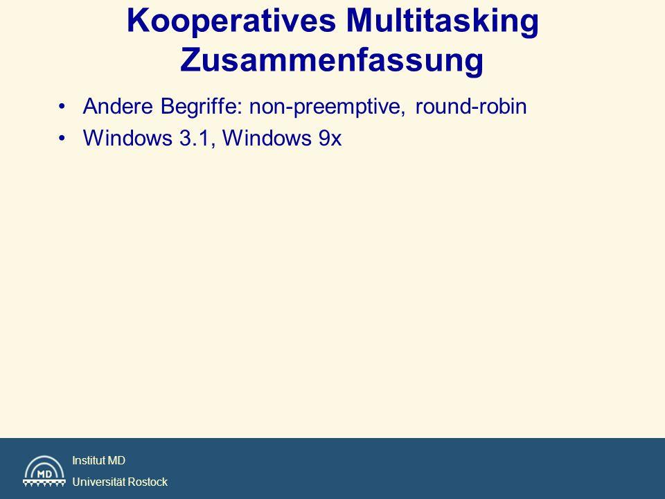 Kooperatives Multitasking Zusammenfassung