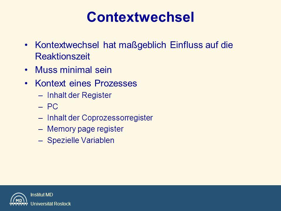 Contextwechsel Kontextwechsel hat maßgeblich Einfluss auf die Reaktionszeit. Muss minimal sein. Kontext eines Prozesses.