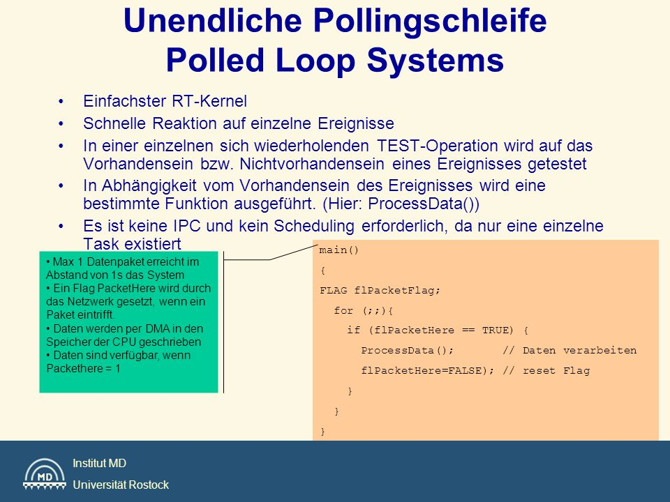 Unendliche Pollingschleife Polled Loop Systems