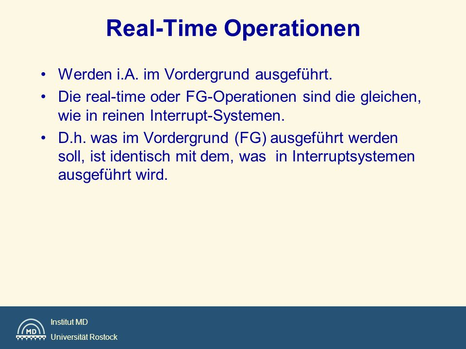 Real-Time Operationen