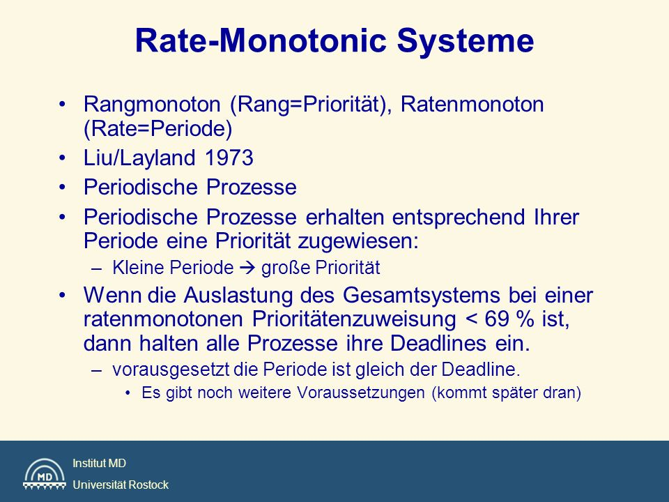 Rate-Monotonic Systeme