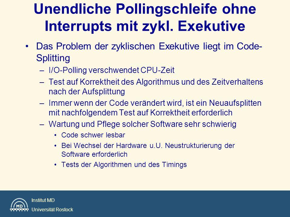 Unendliche Pollingschleife ohne Interrupts mit zykl. Exekutive