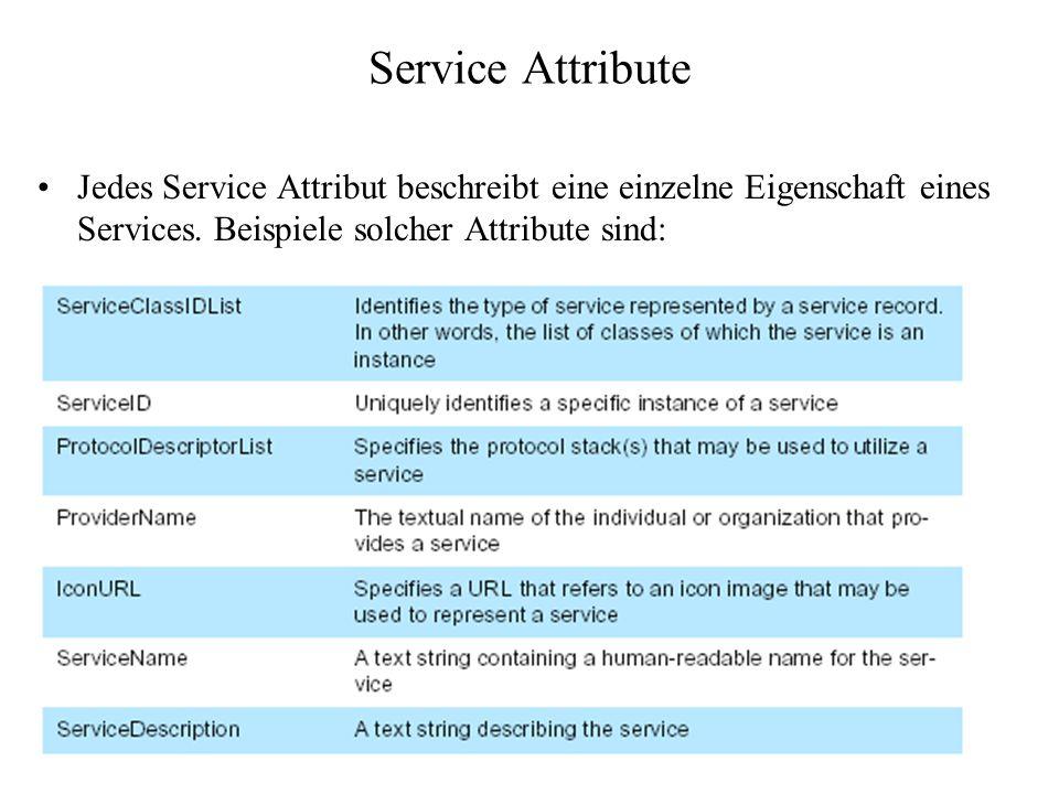 Service Attribute Jedes Service Attribut beschreibt eine einzelne Eigenschaft eines Services.