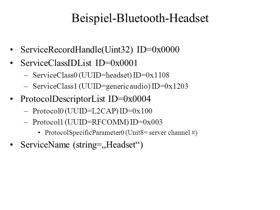 Beispiel-Bluetooth-Headset