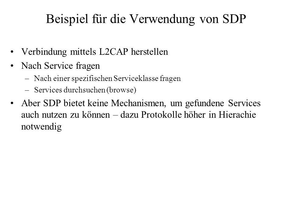 Beispiel für die Verwendung von SDP