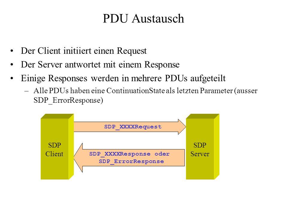 SDP_XXXXResponse oder SDP_ErrorResponse