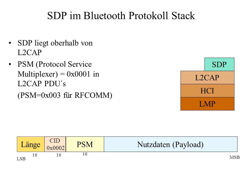 SDP im Bluetooth Protokoll Stack
