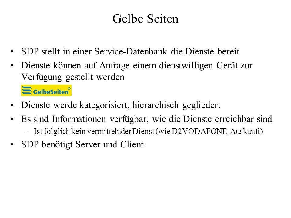 Gelbe Seiten SDP stellt in einer Service-Datenbank die Dienste bereit