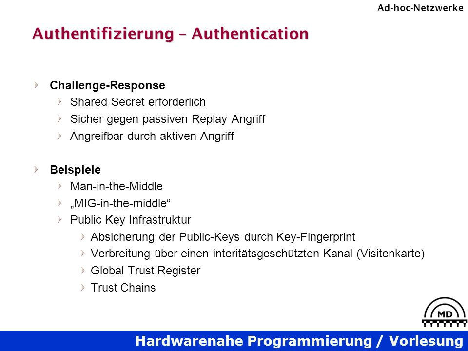 Authentifizierung – Authentication