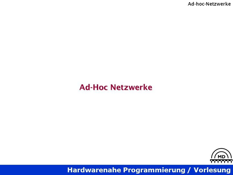 Ad-Hoc Netzwerke
