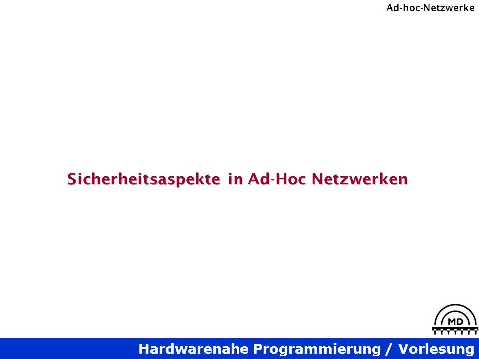 Sicherheitsaspekte in Ad-Hoc Netzwerken