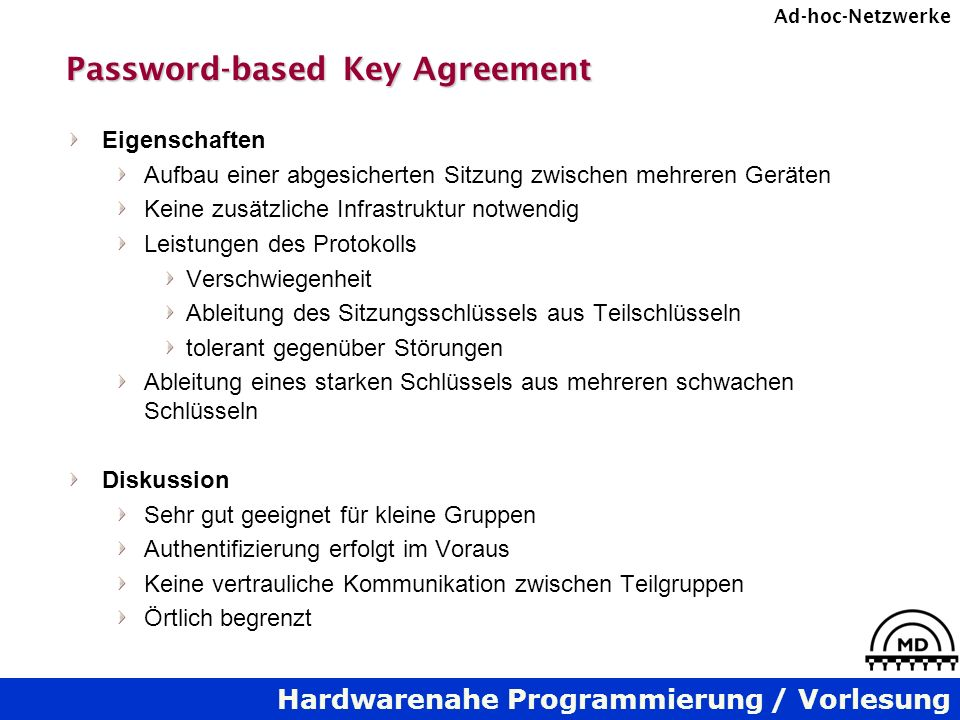 Password-based Key Agreement