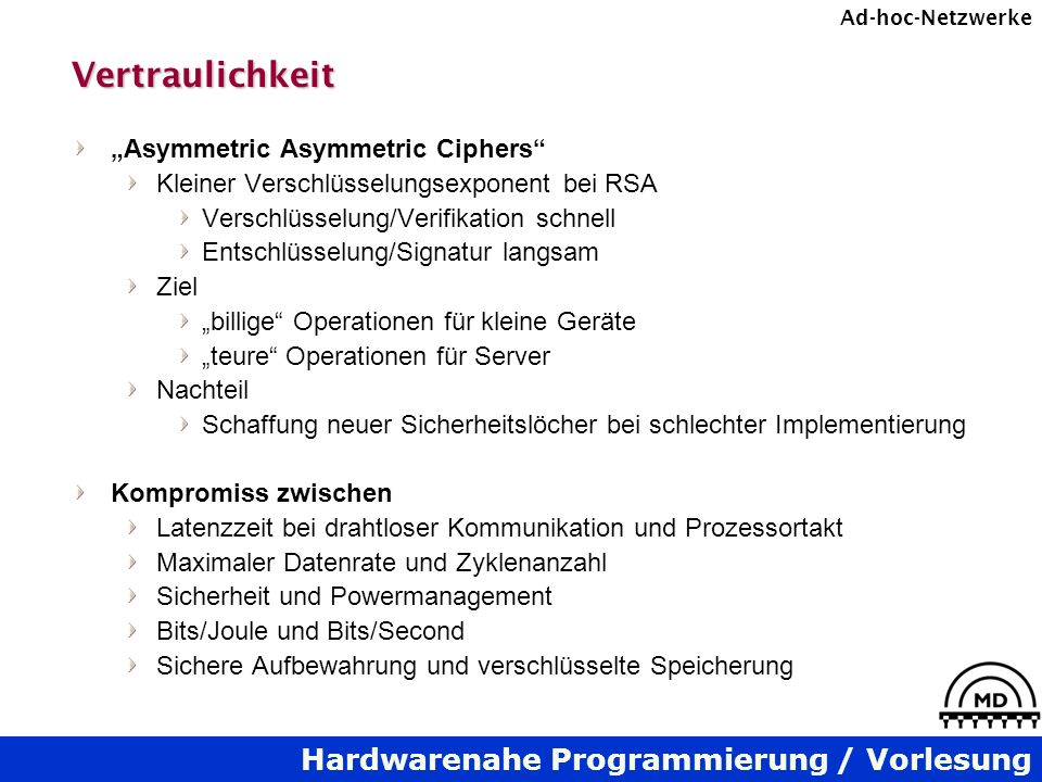 "Vertraulichkeit ""Asymmetric Asymmetric Ciphers"