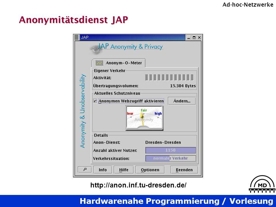 Anonymitätsdienst JAP