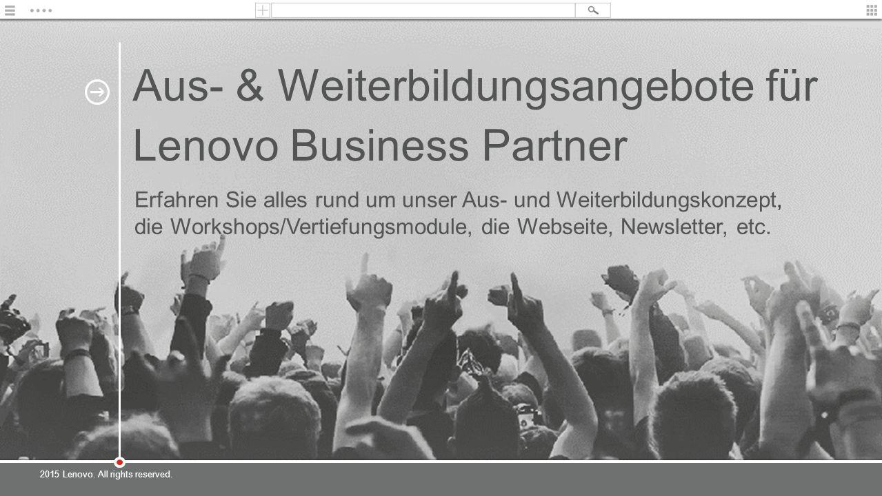 Aus- & Weiterbildungsangebote für Lenovo Business Partner