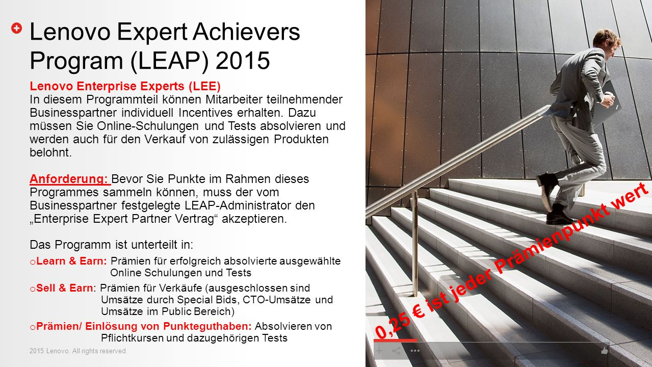 Lenovo Expert Achievers Program (LEAP) 2015