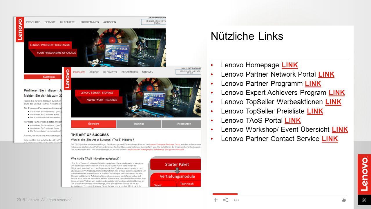 Nützliche Links Lenovo Homepage LINK