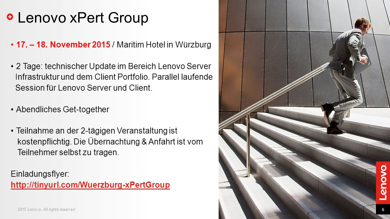 Lenovo xPert Group 17. – 18. November 2015 / Maritim Hotel in Würzburg
