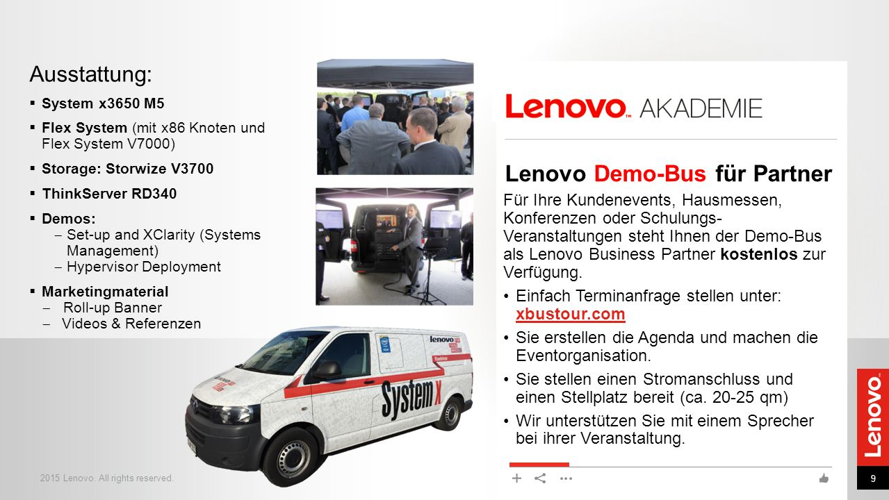 Lenovo Demo-Bus für Partner