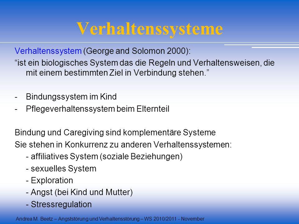 Verhaltenssysteme Verhaltenssystem (George and Solomon 2000):