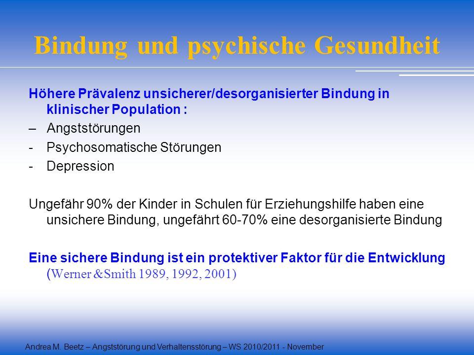 Bindung und psychische Gesundheit