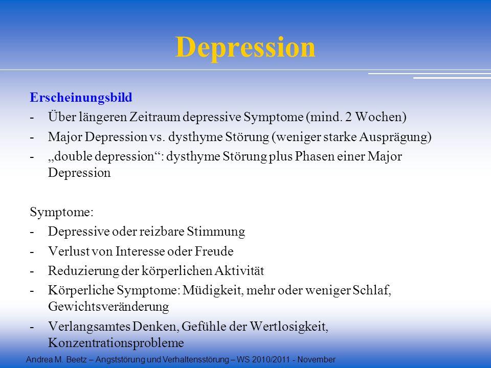 Depression Erscheinungsbild
