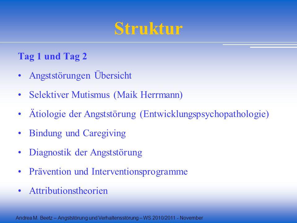 Struktur Tag 1 und Tag 2 Angststörungen Übersicht
