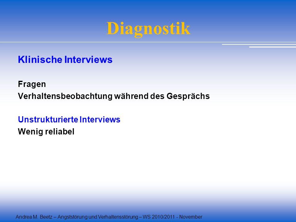 Diagnostik Klinische Interviews Fragen