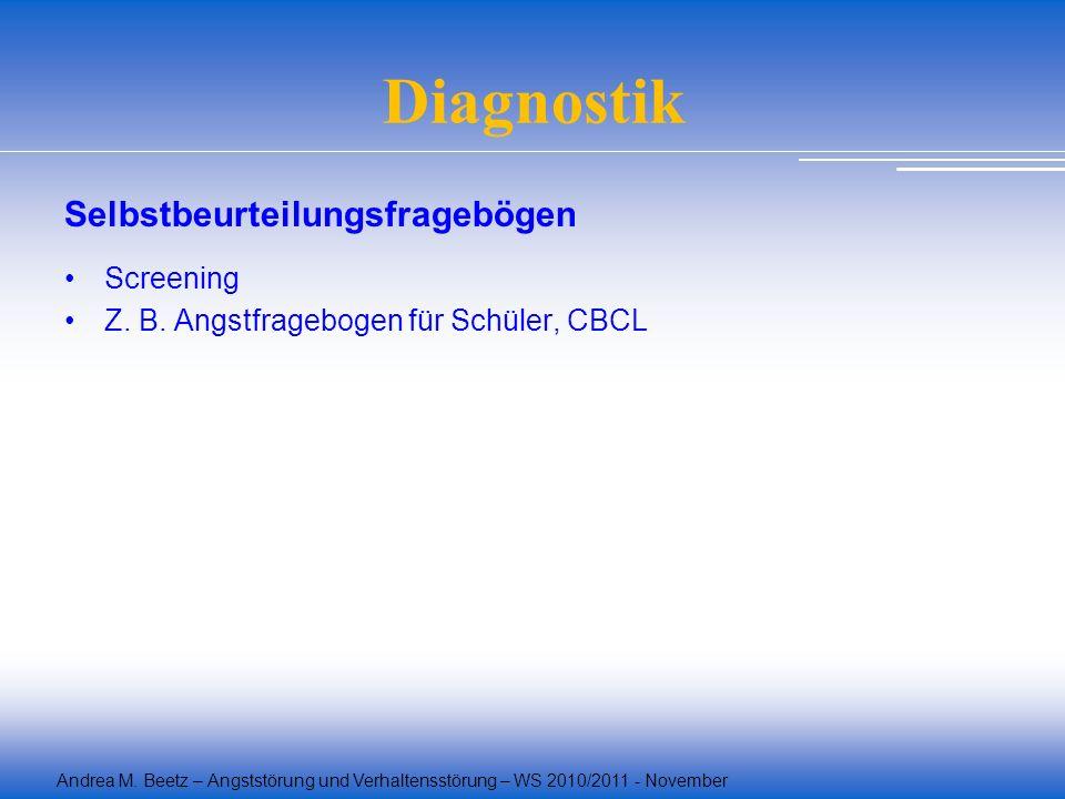 Diagnostik Selbstbeurteilungsfragebögen Screening