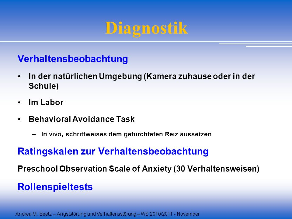 Diagnostik Verhaltensbeobachtung