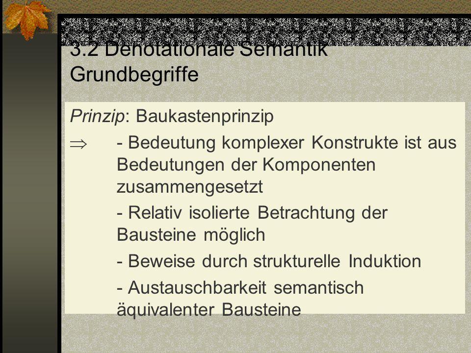 3.2 Denotationale Semantik Grundbegriffe