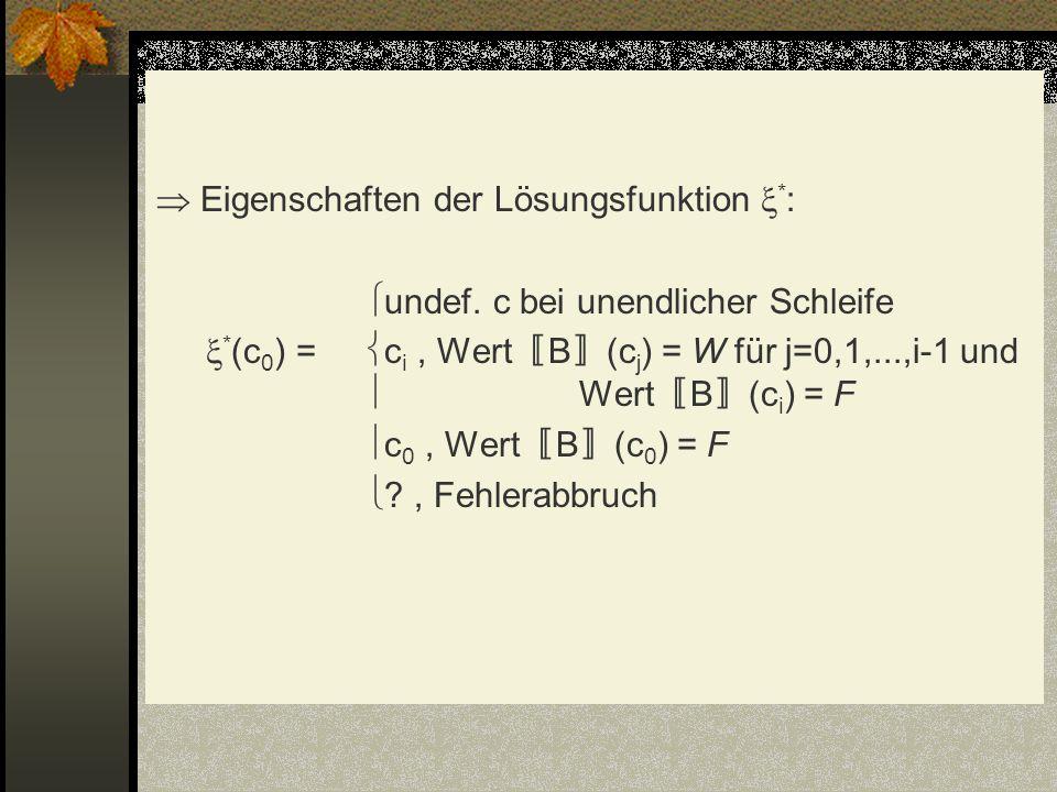 Eigenschaften der Lösungsfunktion . : undef