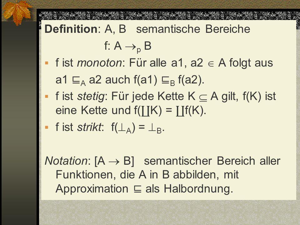 Definition: A, B semantische Bereiche