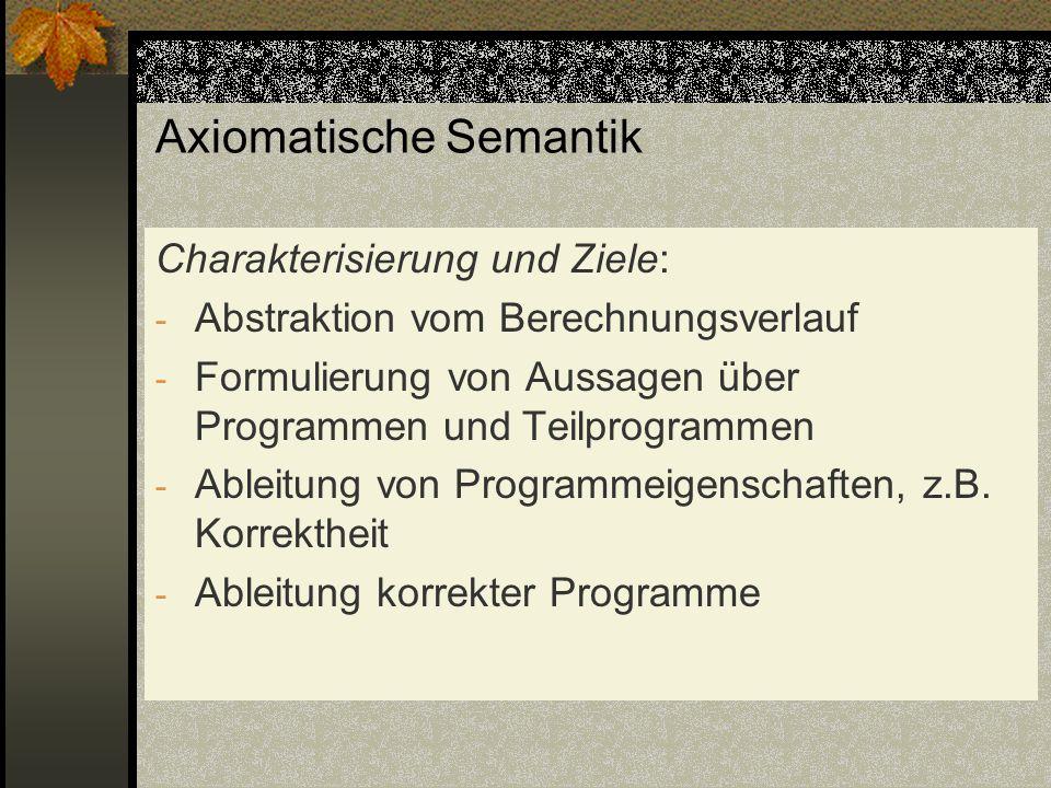 Axiomatische Semantik